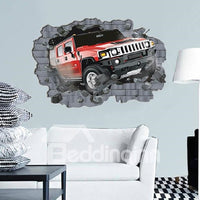 Incroyable Autocollant Mural 3D Automobile