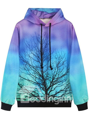 Sweat-shirt A Capuche Magique Arbre Multi-couleurs