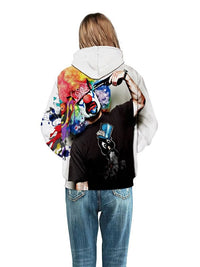 Sweat-shirt A Capuche Multi-coloré Magie De Pierrot Suicidé