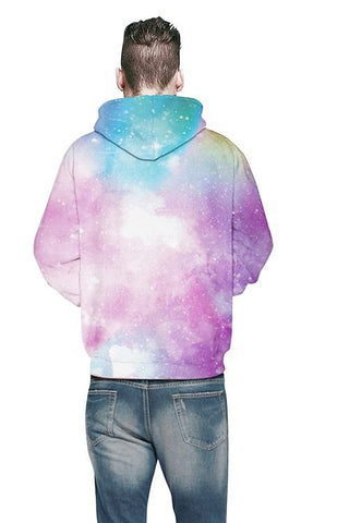 Sweat-shirt A Capuche Galaxie Claire 3D Imprimé