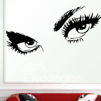 50*95CM Sticker&Autocollant Mural En Dessin De Yeux Charmants