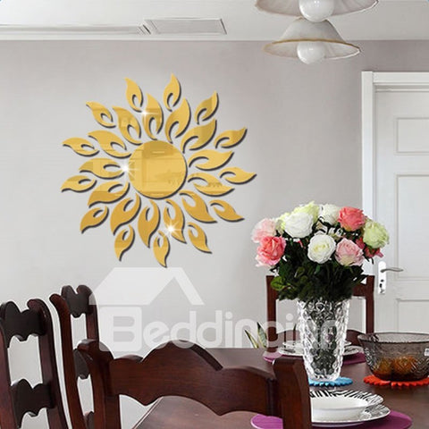 Exotique Sticker Mural 3D Autocollant DIY Papier Design De Soleil
