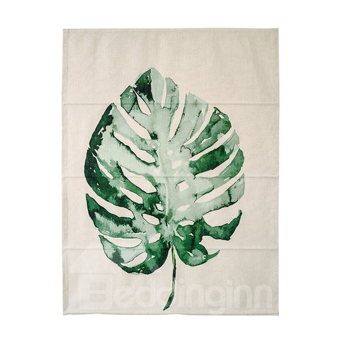Store Romain Simple Moderne Imprimé Faux philodendron