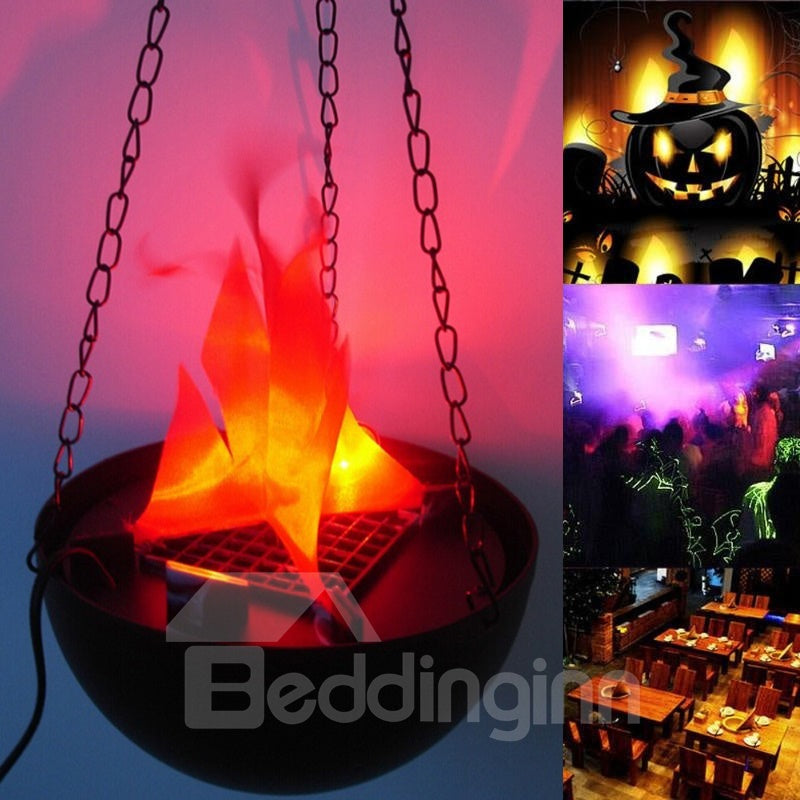 Halloween LED Petit Brasier Electronique 20CM