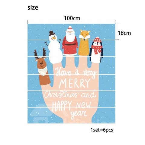 Autocollant de sol Cartoon Imprimé Merry Christmas en PVC