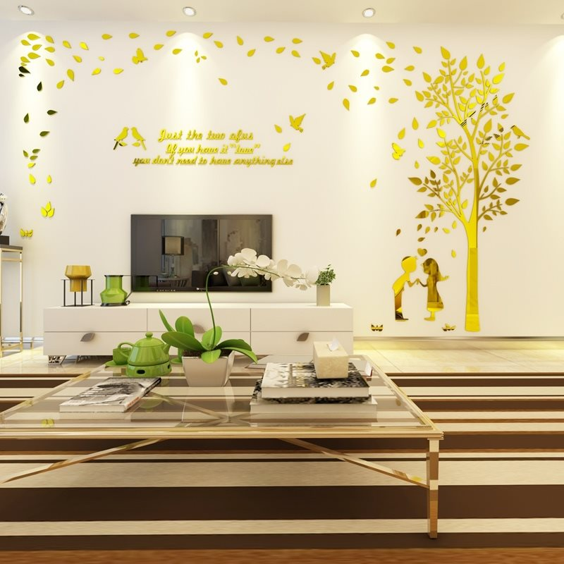 wall sticker Wall Stickers Autocollant Mural 3D PVC Arbres Fleurs