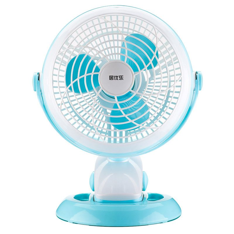 Ventilateur de Circulation d'Air Plastique Inclinaison Réglable Blanc Blue
