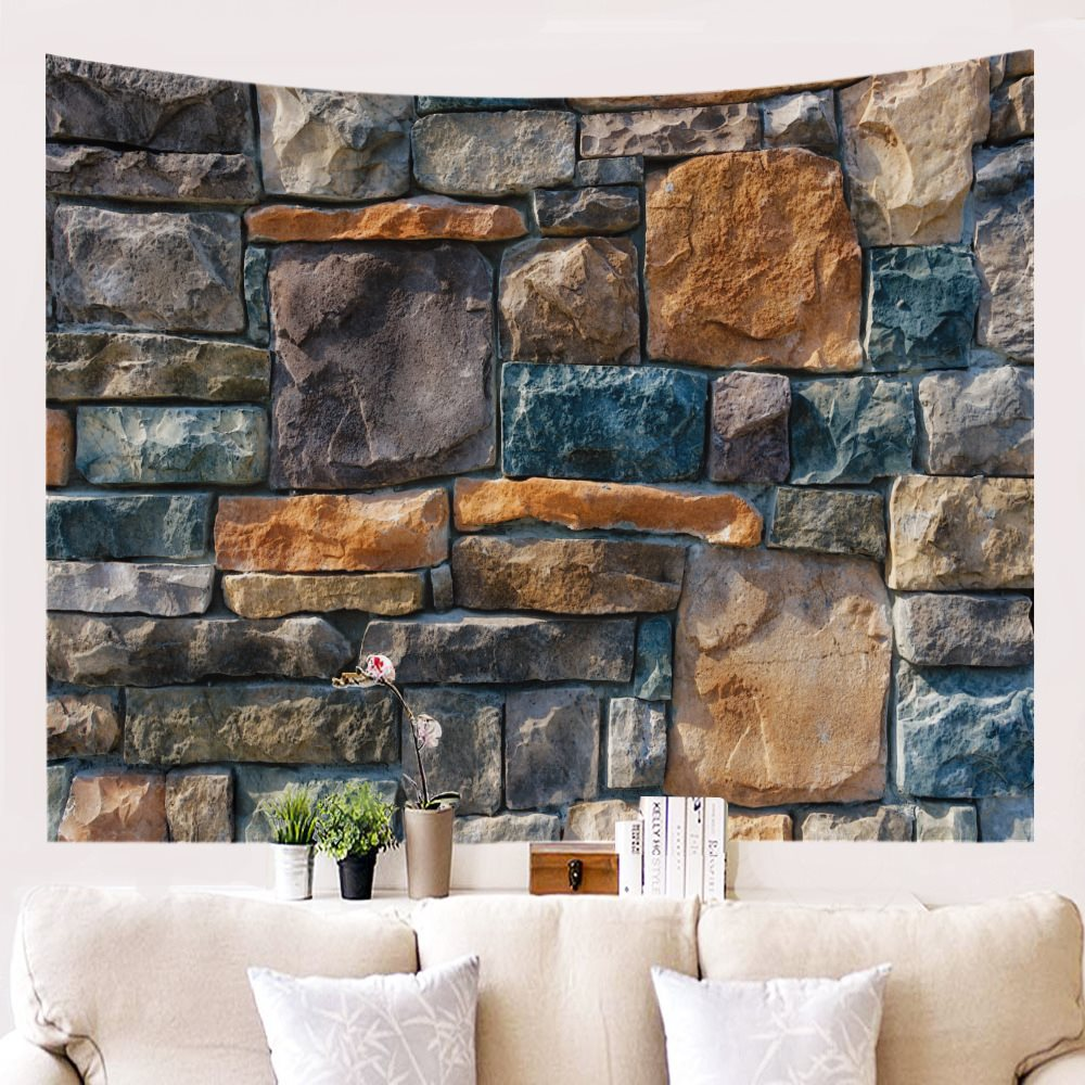 "Printed stone decorative tapestry 79""X59"""