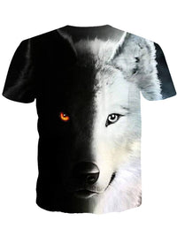 T-shirt Homme Animal Col Rond Loisir Slim Manches Courtes