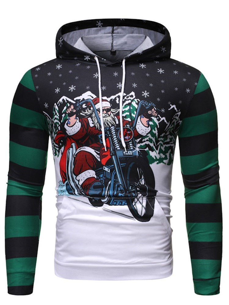 Sweat-shirt Homme Poche Pull-Over Cartoon Animation Automne Décontracté