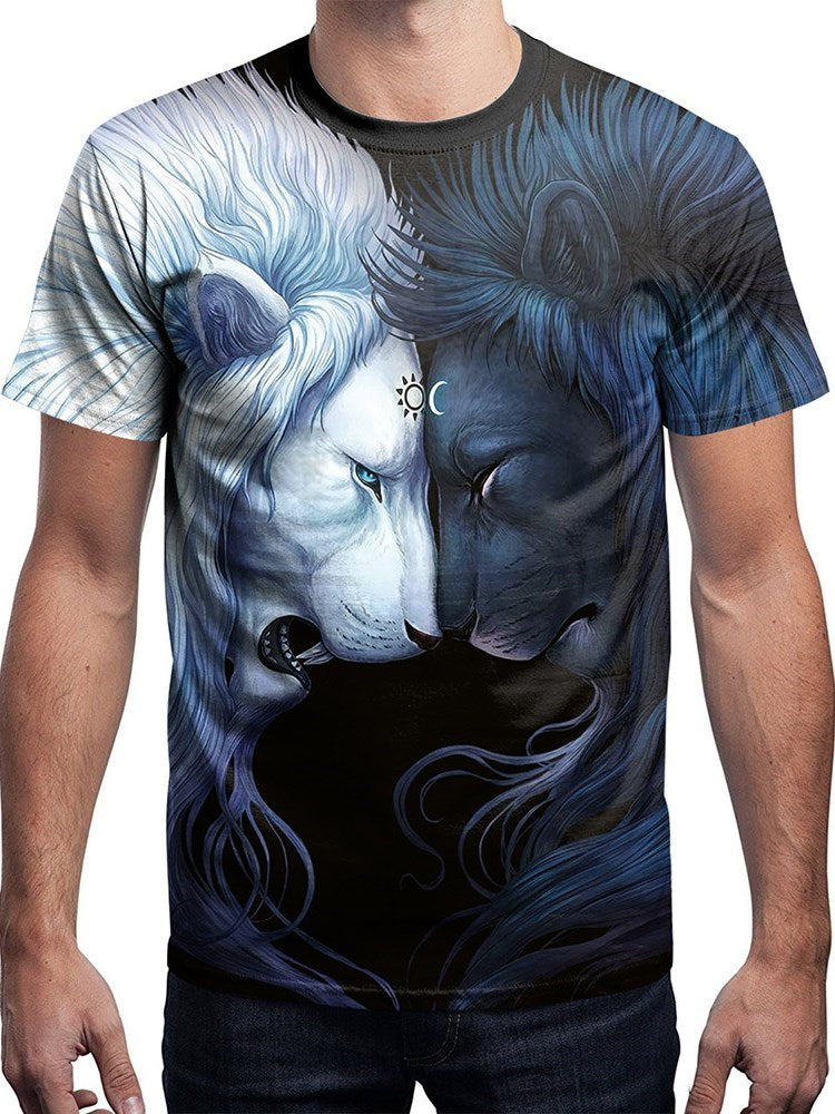 T-shirt Homme Occident Animal Col Rond Coupe Droite Manches Courtes