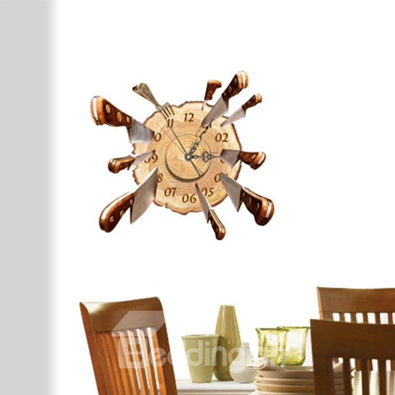 Horloge Murale En Design De 3D Sticker De Service Se Table
