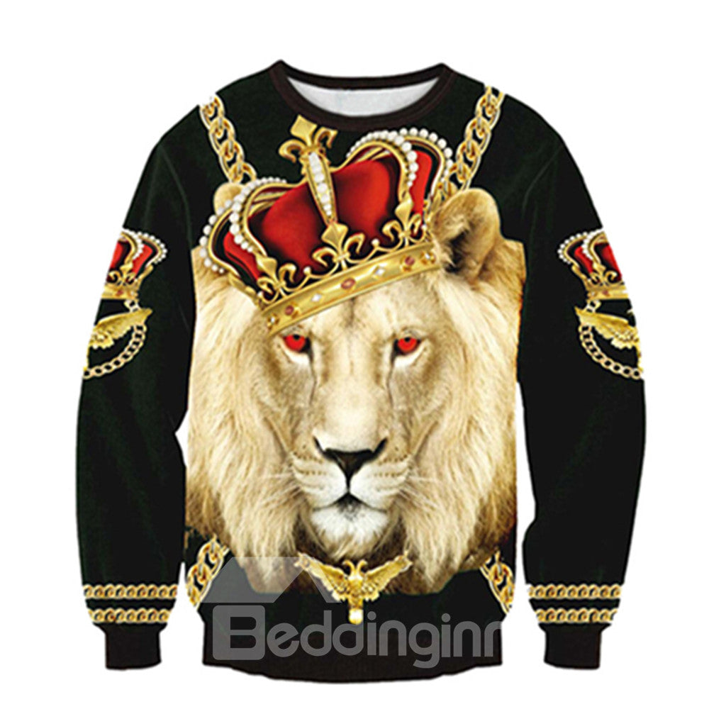 Sweat-shirt Cool 3D Imprimé Champion Lion