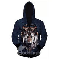 Sweat-shirt A Capuche Loup Cool Décoratif 3D Imprimé