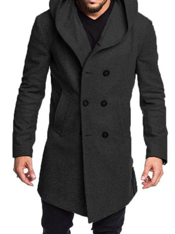 Manteau Homme Standard Bouton Pure Style Angleterre Hiver