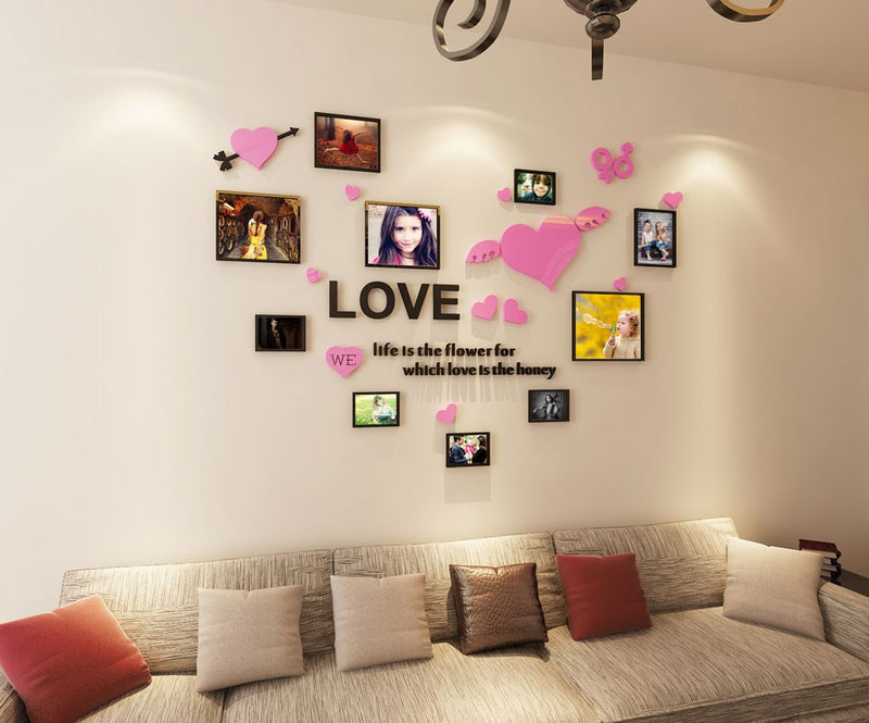 Amour photo wall 3d wall sticker Salon Chambre Autocollant 3D