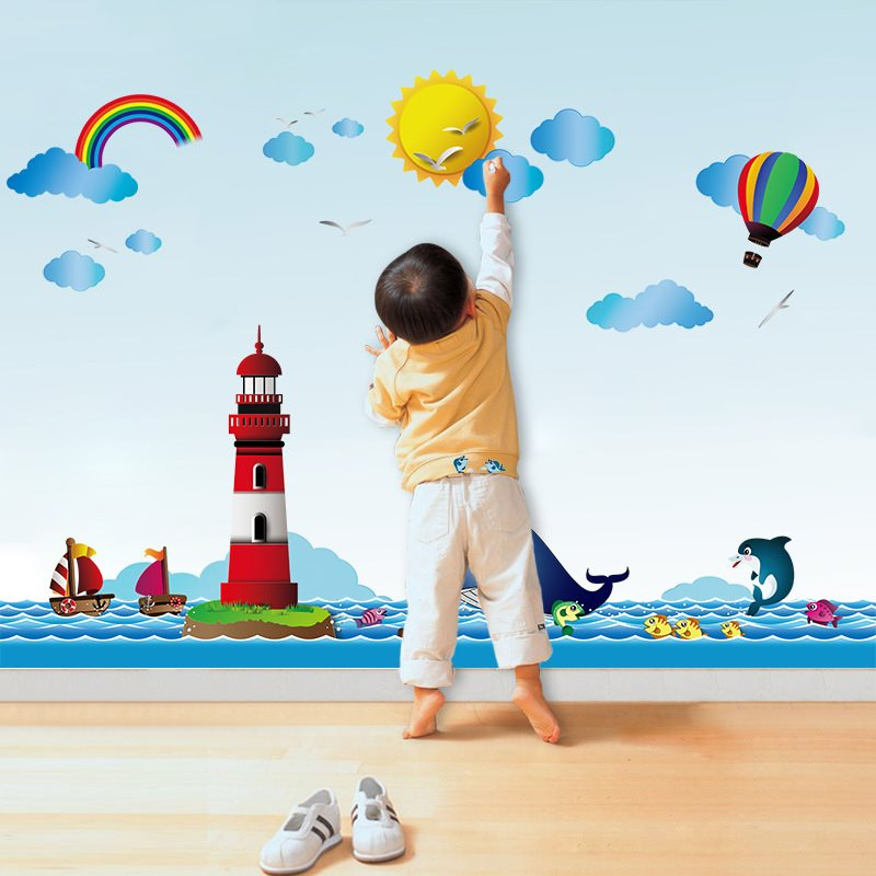 Enfant Wall sticker Décoration Pour Chambre Cartoon Animation PVC