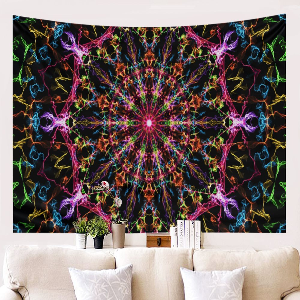 "Colorful beautiful print abstract personality pattern tapestry 79""X59"""