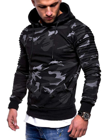 Sweat-shirt Homme Imprimé Pull-Over Couleur Camouflage Printemps Pull