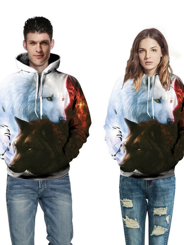 Sweat-shirt 3D Animal Pull-Over Lâcheté