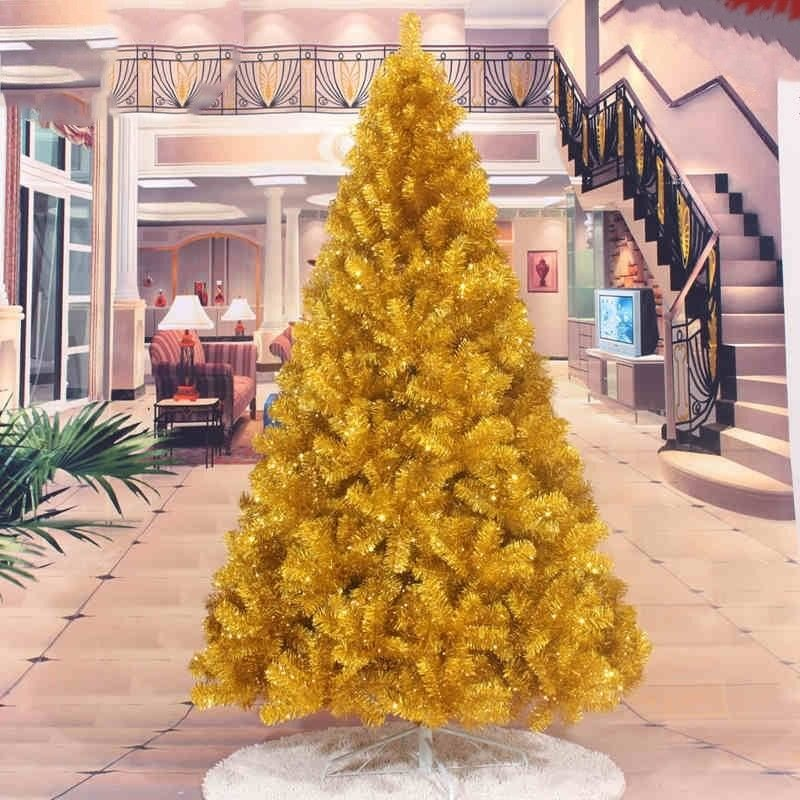 Christmas tree gold Artificial Christmas Tree Holiday Indoor Plastic Stand Base Xmas Home