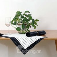 Set de table Simple Blanc et Noir Isolant en PVC