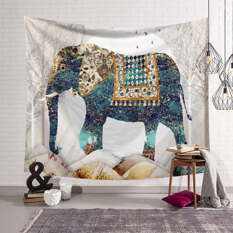 Elephant Tapestry Mandala Hanging Tapestries Wall Art Decor Beach Throw