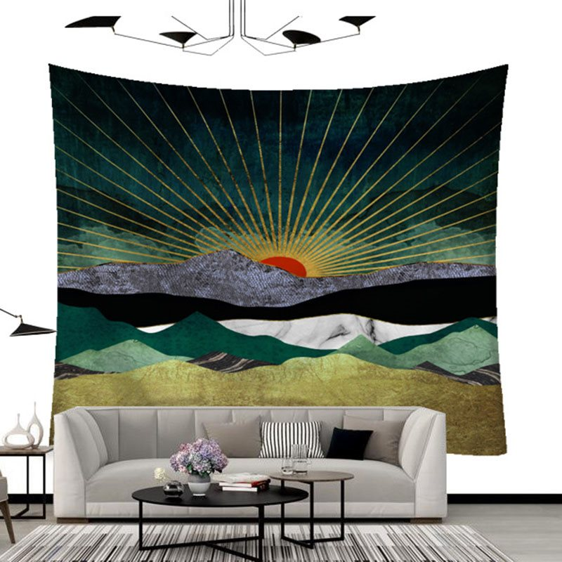 Wall Hanging Cloth Large with Flannelette for Sofa Cover Beach Shawl