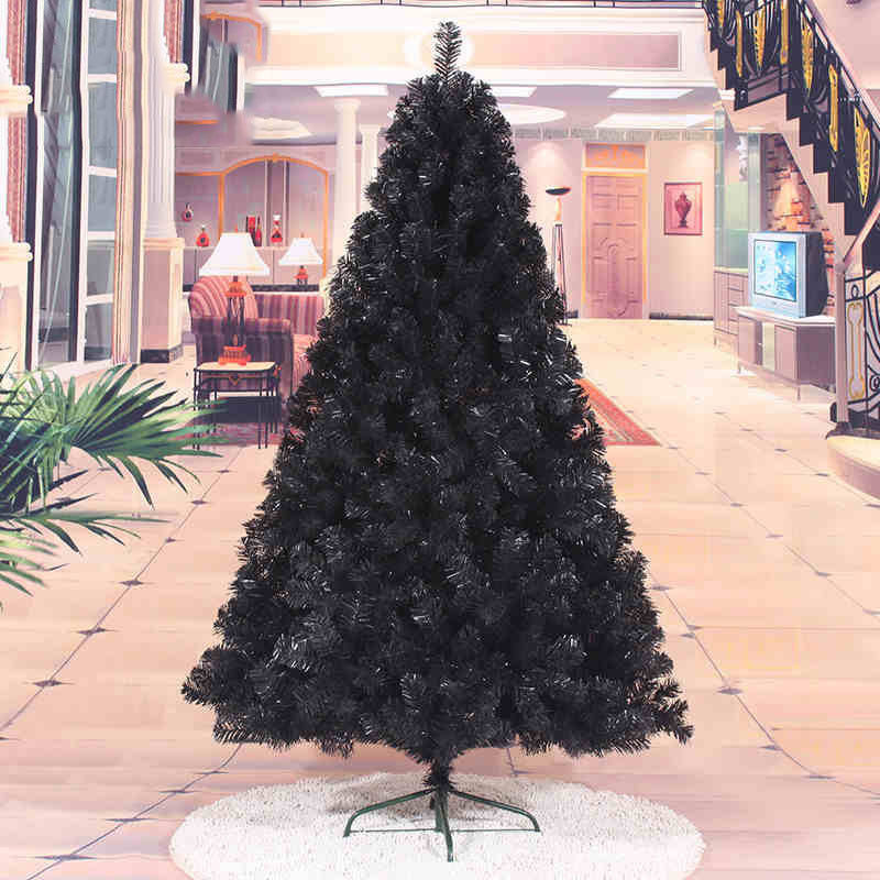 Christmas tree Black Artificial Christmas Tree Holiday Indoor Plastic Stand Base Xmas Home