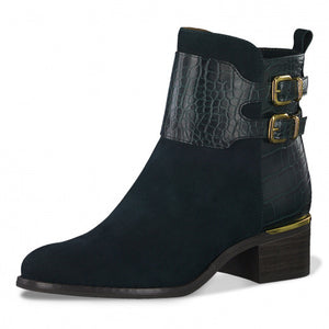 Tamaris 25344-25 Ladies Bottle Green Ankle Boots