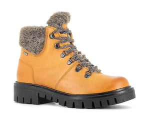 Alpina Amica 7L22-2 Mustard Yellow Wool Lined Water Resistant Lace Up Walking Boots - elevate your sole