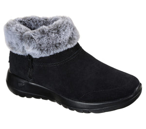 Skechers 144003 On The Go Joy Savvy Ladies Black And Grey Warm Lined Ankle Boot