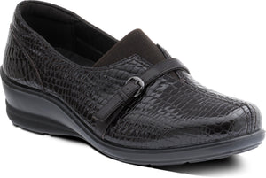 Padders Shelley Brown Croc Shoes Wider Fitting - elevate your sole
