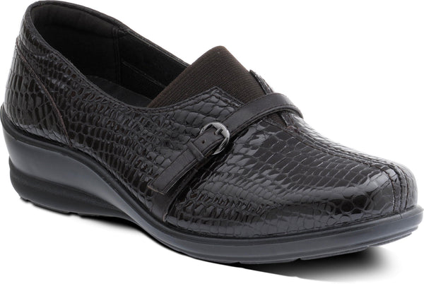 Padders Shelley Brown Croc Shoes Wider Fitting