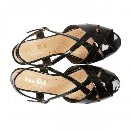 1756321149 Van Dal Libby II Black Patent Leather Evening Sandals - elevate your sole
