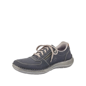 Rieker 03030-14 Mens Navy Lace & Zip Up Shoes