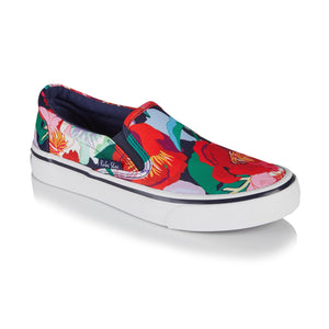 Ruby Shoo Aria Ladies Floral Canvas Slip On Shoes