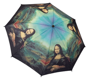Galleria Da Vinci 'Mona Lisa' Folding Umbrella - elevate your sole