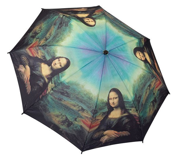 Galleria Da Vinci 'Mona Lisa' Folding Umbrella