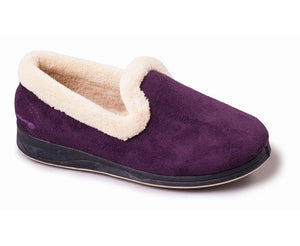Padders Repose Purple Ladies Wide Fitting Slippers - elevate your sole