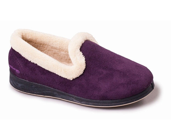 Padders Repose Purple Ladies Wide Fitting Slippers