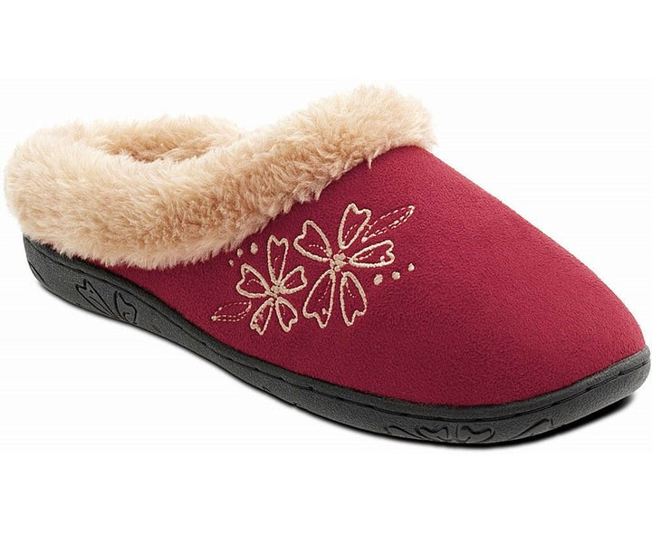 Padders Anika Red Ladies Wider Fitting Slippers - elevate your sole