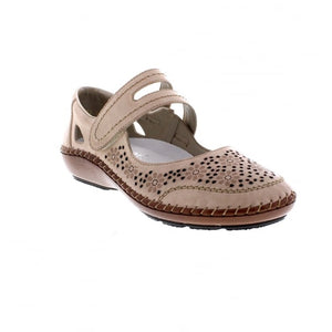 Rieker 44875-60 Beige Mary Jane Summer Shoes
