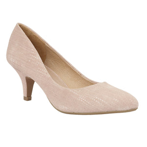 Lotus Dandelion Pastel Pink Leather Court Shoes - elevate your sole