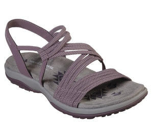 Skechers 41180 Reggae Slim Skech Appeal Ladies Plum Purple Slingback Sandal