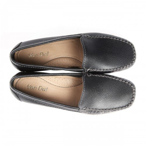 Van Dal Sanson Black Leather Loafer Shoes