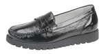 Waldlaufer 549002 Hegli Black Patent Leather Slip On Shoes