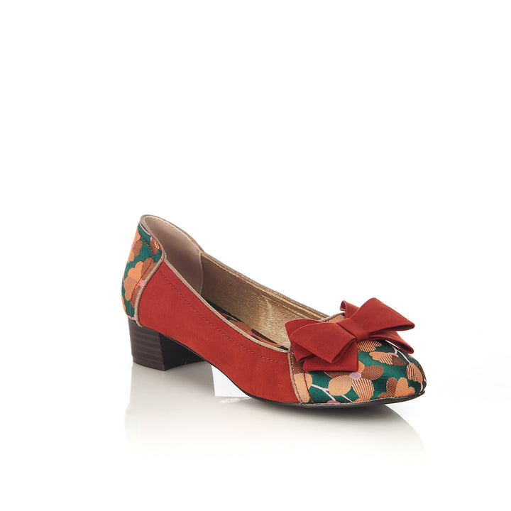 Ruby Shoo Aurora Russet Low Heel Court Shoes