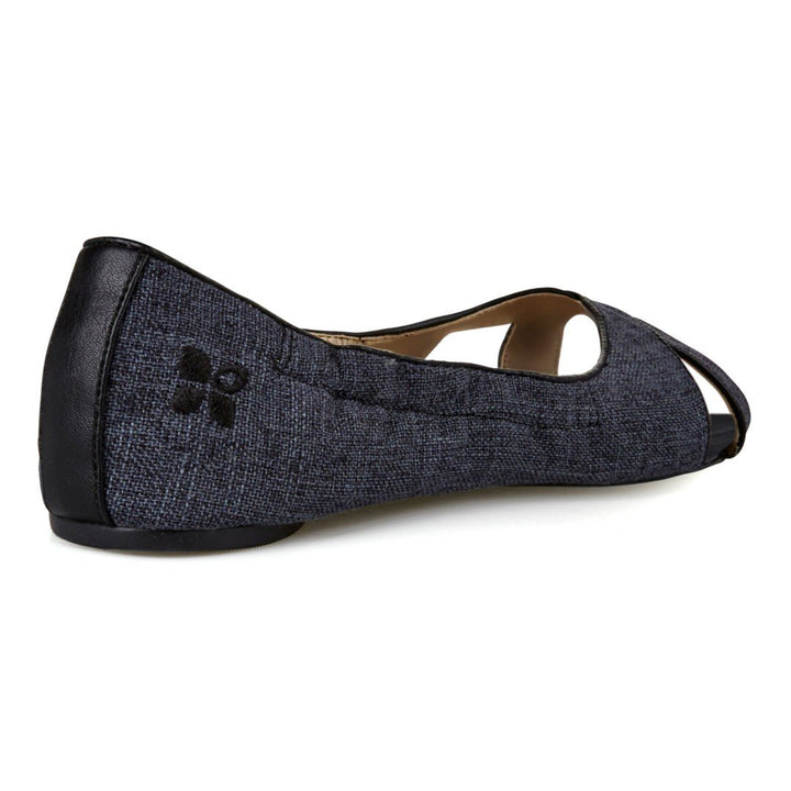 Butterfly Twists Lottie Black Linen Pumps - elevate your sole