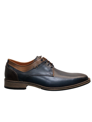 Savelli 4308 Mens Navy Leather Lace Up Smart Shoe